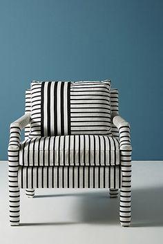 Banded Stripe Delaney Chair