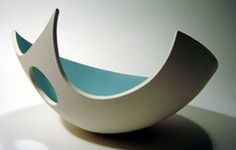 Double Cut Bowl by Sarah Hillman Double Cut Bowl by Sarah Hillman Hand Built Pottery, Slab Pottery, Pottery Bowls, Ceramic Pottery, Pottery Art, Slab Ceramics, Porcelain Ceramics, Ceramic Bowls, Ceramic Painting