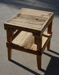 Farmhouse style table/nightstand on etsy.  I could do this...