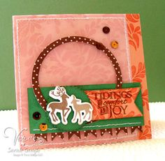 Holiday card by Sarah Gough using Unto Us from Verve Stamps.  #vervestamps