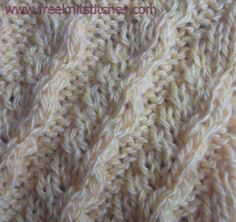 Heavy Wave knitting stitches