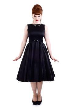 The Black Hepburn Dress - £45. Made in London.