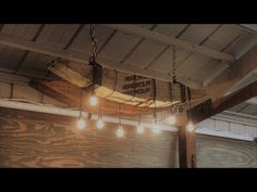 Reclaimed Beam Edison Chandelier How to : Step by Step DIY - Driftwood 4 Us Edison Bulb Chandelier, Driftwood Chandelier, Farmhouse Chandelier, Rustic Chandelier, Pendant Lighting, Driftwood Furniture, Diy Light Fixtures, Timber Beams, Reclaimed Timber