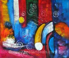 Original Hand-painted Abstract colors paintings by http://bestartdeals.com.au