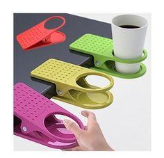 Wish | 1pc Table Office Supplies Clip Drink Cup Coffee Mug Desk Lap Folder Holder