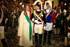 Parade in Honour of the Charming Miller's daughter, Ivrea Carnival, Italy by Vincent Besanceney, via Flickr