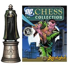Batman Ra's Al Ghul Chess Piece with Collector Magazine - Eaglemoss Publications - Batman - Statues at Entertainment Earth