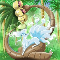 Ninetales Exeggutor Pokemon Sun Pokemon Moon by tatanRG.deviantart.com on…