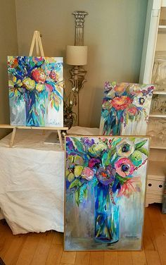 Watercolour painting, acrylic painting tips, acrylic art, painting & dr Acrylic Flowers, Acrylic Art, Abstract Flowers, Colorful Flowers, Painting & Drawing, Painting Tips, Painting Inspiration, Diy Art, Art Lessons
