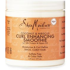 Gotta have this: SheaMoisture Coconut & Hibiscus Curl Enhancing Smoothie Strawberry Sorbet, Raspberry Smoothie, Apple Smoothies, Coconut Smoothie, Hibiscus, Curl Enhancing Smoothie, Recipe For Teens, Curl Styles, Hair Styles
