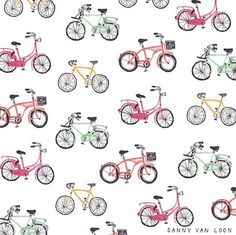 Bicycle pattern - Sanny van Loon • Illustration