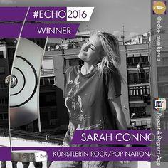 #Winner SarahConnor  Wie schön sie ist  und strahlen kann! #SarahConnor gewinnt den #ECHO2016 in der Kategorie Künstlerin Rock/Pop National! #charts #musik #pop #gala #promis #music #instamusic#favoritesong #bestsong #photooftheday #echo #rock