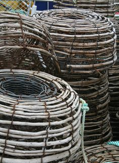 Fishing baskets in Tasmania, Australia