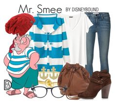 Mr. Smee by leslieakay on Polyvore featuring polyvore, fashion, style, H&M, Frame Denim, rag & bone, Kate Spade, Jewel Exclusive, RetroSuperFuture, disney, disneybound and disneycharacter