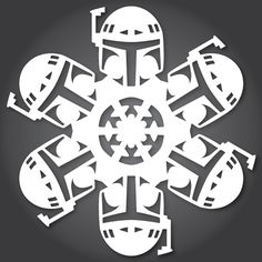 DIY Paper 'Star Wars' Snowflakes For the Holiday Season
