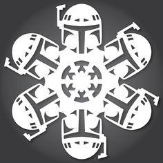 DIY 'Star Wars' Snowflakes
