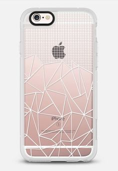 Abstract Grid Outline White Transparent iPhone 6s case by Project M | Casetify
