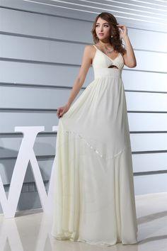 Rückenfreies A-Line Gefaltet bodenlanges Brautkleid