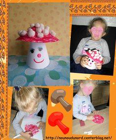 A beautiful champigon produced by Soline * Year 2013 * / Diy Crafts, Beautiful, Montessori, Decor, Halloween, Table, Autumn, Kids Fall Crafts, Fungi