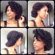 Try a roll and tuck. Deep-part your favorite side, and roll your curls upward all the way around. Loosely secure with bobby pins for a romantic touch. | 15 Super Easy Protective Styles That Anyone Can Do