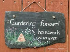 Who is ready to work in the garden?