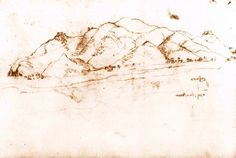 Landscape at Pisa by Leonardo da Vinci, 1502-1503