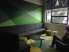 Deakin University - Waterfront campus student lounge area