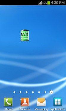 Battery Widget - http://androidvb.com/battery-widget/