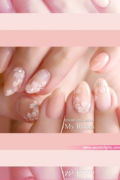Wedding Nails Design, Acrylic Gel, Nail Designs, Cherry Blossom, Beauty, Instagram, Nail Design, Cosmetology, Cherry Blossoms