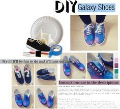 """""""DIY Galaxy Shoes"""" by kantastic ❤ liked on Polyvore"""
