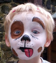 halloween baby dog face paint - Google Search