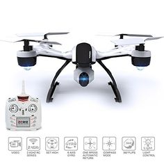 Drone with Camera for Sale – 509V Quadcopter RC Drones Helicopter – Beautiful HD Cam, Air Pressure Sensor Altitude Lock, Easy Control Headless Mode, Return Home Key, 6 Axis Gyroscope, USA Warranty – RC Radio Control