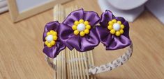 How to Make Delicate Flowers Headbands for Girls with Satin Ribbon