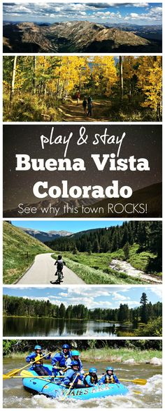 Buena Vista, Colorado rocks for family vacations! Adventurous things to do in this lively, rejuvenated mountain town. Play, eat, drink, shop and stay along the Arkansas River.  Whitewater thrills, hiking, biking, fishing, climbing, and more await you in this sweet area of the Rocky Mountains.