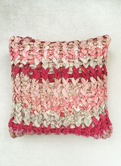 Berry Chunky Knit Cushion