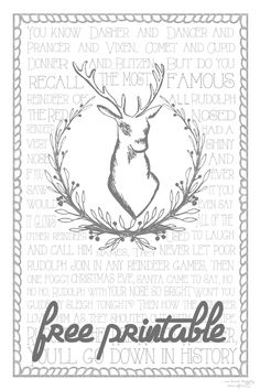 Free Rudolph The Red Nosed Reindeer Christmas Printable - We Lived Happily Ever After