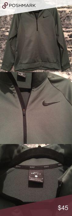 ✨NWT✨ Nike pullover ✨NWT✨ Nike dri-fit half zip pullover in dark green. Nike Jackets & Coats Performance Jackets