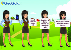 https://play.google.com/store/apps/details?id=com.geogola&hl=en  Try this App to earn money easily .. Install Geogola MobileApp. Its Simple using your Android Mobile , Watch Ads & Refer Your Friends. http://www.geogola.com