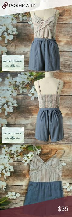 Anthropologie Lilka Poolside Romper Adorable retro style cotton romper.  A cute vintage look for summer. See more details in photo above. NO TRADES PLEASE! OFFERS WELCOME THROUGH OFFER FEATURE ONLY PLEASE! Anthropologie Shorts