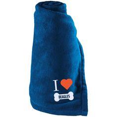 Beagle - I LOVE MY BEAGLE (BONE DESIGN) - Large Fleece Blanket