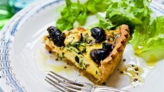 italian pie with feta and olives