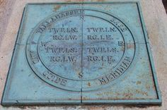 This is a marker that marks the beginning point of all land surveys in the state of Florida. It is located just south of Gaines Street in Tallahassee Florida.