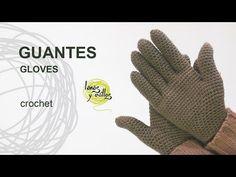 Tutorial Guantes Crochet o Ganchillo - YouTube