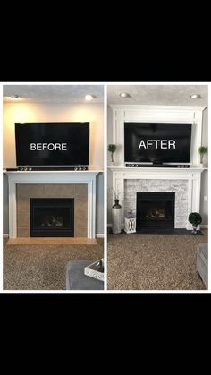 Mounding fireplace surround #homeimprovementideas