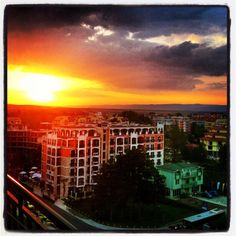 Sunset over Sunny Beach, Bulgaria