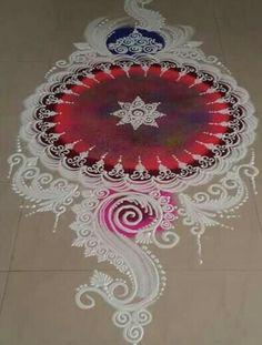 From youtube Rangoli Designs Latest, Simple Rangoli Designs Images, Latest Rangoli, Rangoli Designs Flower, Rangoli Border Designs, Rangoli Patterns, Rangoli Ideas, Rangoli Designs Diwali, Diwali Rangoli
