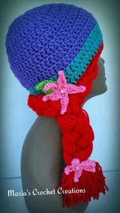 Crochet Little Mermaid Ariel Inspired Hat  MadebyMe  Maria'sCrochetCreations