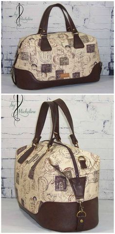 Brookklyn bag sewing pattern by Swoon. This stunning example was stitched and photographed by Micheline T.