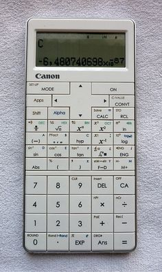 CANON Mark I PRO - 2012 - Calculator