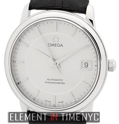 #Omega Classic Chronometer 35mm iN Stainless Steel With A Silver Stick Dial